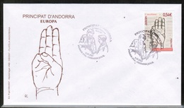 CEPT 2007 AD FR MI 661 ANDORRA FRANCE FDC - 2007