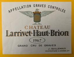 11505 - Château Larrivet-Haut-Brion 1967 Graves - Bordeaux