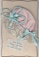 Carte SAINTE CATHERINE Avec Bonnet Entier En Tissus Sur Le Recto (trés Rare) - Sainte-Catherine
