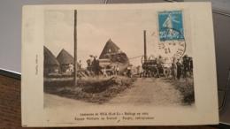 Vicq - Battage De 1915 - équipe Militaire Au Travail - Poupry, Entrepreneur - France