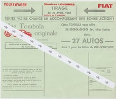 Publicité Tombola VW Coccinelle   1968 - Publicidad