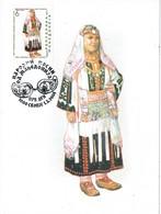 33676. Tarjeta Maxima SKOPIE (Macedonia) 2001. Traje Tipico Dolni Polog - Macedonia