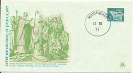 Ireland Cover Muineachan 17-3-1977 With Special St. Patrick Cachet - 1949-... Republic Of Ireland