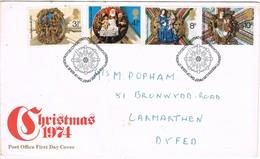 33677. Carta F.D.C. BETHLEHEM (LLandeilocarms) 1974. Navidad - 1952-.... (Elizabeth II)