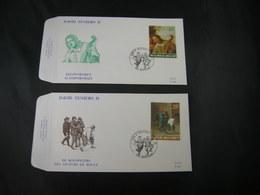 "BELG.1990 2393 & 2395 FDC ( Bottelare ) : "" David Teniers II "" - 1981-90"