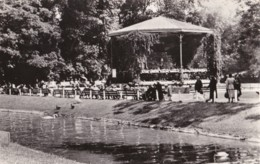 AP70 Ostende, Le Parc Leopold - RPPC, People, Ducks, Bandstand - Oostende