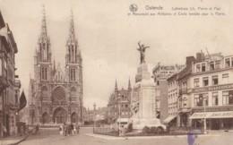 AP70 Ostende, Cathedrale Et Monument Aux Militaires Et Civils Tombes Pour La Patrie - Oostende