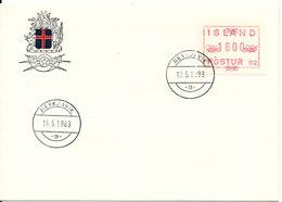 Iceland FDC 19-5-1988 ATM Frama Label 16,00 Kroner - ATM - Frama (labels)