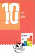 33679. Tarjeta Maxima ZAGREB (Yugoslavia) 2001. 10 Aniversario Correos Reoublica Croacia - 1992-2003 República Federal De Yugoslavia