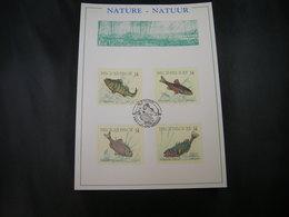 "BELG.1990 2383 2384 2385 & 2386 FDC ( Brus/Brux ) Filatelic Card : "" Natuur , Vissen / Nature , Poissons "" - 1981-90"