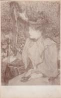 AR61 Art - Portrait Of A Lady By Toulouse Lautrec - Paintings