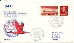 Norway First Ordinary SAS Flight Scandinavia - Westindia Via Zurich 1-11-1969 - Norway