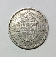 GRAN BRETAGNA / UNITED KINGDOM - HALF CROWN ( 1954 ) Elizabeth II - 1902-1971 : Monete Post-Vittoriane