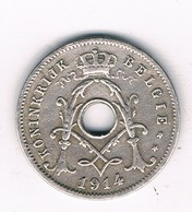 5 CENTIMES  1914 VL BELGIE /6259/ - 1909-1934: Albert I