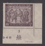 Alliierte Besetzung Sowjetische Zone, Allgemeine Ausgabe  Leipziger Messe 1948 Nr. 198  DV Postfrisch - Gemeinschaftsausgaben