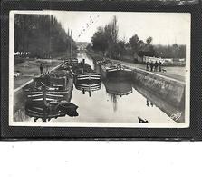 """35-REDON-* Une Vue De La PENICHE """"MELANIE De NANTES-Bap Grangeot """"sur Le Canal - Redon"""