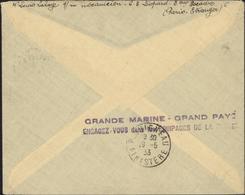 CAD Perlé Agence Embarquée Croiseur Lamotte Picquet 16 5 33 + Publicité Grande Marine Gd Pays Engagez Vous - Postmark Collection (Covers)