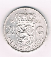 2 1/2 GULDEN 1962   NEDERLAND /6269/ - [ 3] 1815-… : Royaume Des Pays-Bas