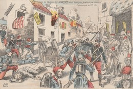 CPA LA BRASSEE Patriotique Militaria Militaire Anti-Germanique Anti Allemagne Boche  Illustrateur (2 Scans) - Patrióticos