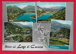 CARTOLINA VG ITALIA - Saluti Dal Lago Di CAVAZZO (UD) - Vedutine Multivue - 10 X 15 - 1969 CAVAZZO CARNICO TASSATA - Saluti Da.../ Gruss Aus...