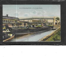 Europe-Allemagne-LUDWIGSHAFEN-*Le Luitpolhafen-Beau Plan De PENICHE Sur Le Canal Pres Du Pont - Ludwigshafen