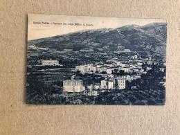 GUALDO TADINO PANORAMA CON VEDUTA ISTITUTO S. ROBERTO 1924 - Perugia
