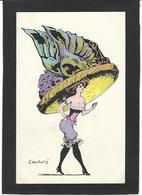 CPA Mouton Georges Femme Girl Women Non Circulé Mode Chapeau érotisme Glamour - Women