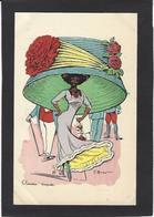 CPA Mouton Georges Femme Girl Women Non Circulé Mode Chapeau érotisme Glamour Négritude - Women