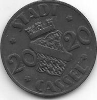 *notgeld Cassel 20 Pfennig  1920  Zn  2370.2 /F 78.6 - [ 2] 1871-1918 : Empire Allemand