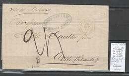 France -Lettre De Buenos Ayres - Argentine Pour Cette - Hérault  - 1870 - Via Lisbonne - Postmark Collection (Covers)