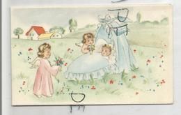 Mignonnette. Bébé Dans Un Couffin Au Jardin, Anges. Joseph Grand'Ry Né Le 23/01/1948 à - Naissance