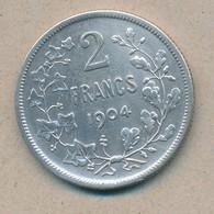 België/Belgique 2 Fr Leopold II 1904 Fr Morin 194a (89366) - 1865-1909: Leopold II