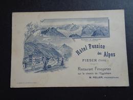Suisse ( 238 )   Switserland  Svizzera  Sweiz  Zwitserland  :  Fiesch ( Valais )  Hôtel Pension Des Alpes - Suisse