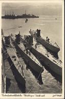 CP Flotille Sous Marins U Boot Allemands YT Hindenburg 6pf Vert CAD Wilhelmshaven 12 10 39 Guerre 40 Marine Interseeboot - Germany