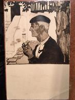 CPA, Illustrateur, Non Signée, Vieux Basque, Pays Basque , écrite En 1935, Timbre - Illustrators & Photographers