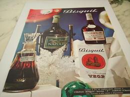ANCIENNE PUBLICITE POUR VOS CADEAUX COGNAC BISQUIT 1968 - Alcools