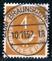 """""""BRAUNSCHWEIG"""" Zentrischer Vollstempel Auf Nr. 124 - [7] République Fédérale"""