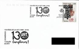 SPAIN. FDC. 130th ANNIV. LABOR UNION U.G.T. 2019 - FDC