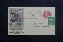 ETATS UNIS - Entier Postal Commerciale + Complément De Pleasantville Pour La Suisse En 1953 - L 40023 - 1941-60