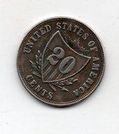 USA : 20 Cts 1875 - Émissions Fédérales