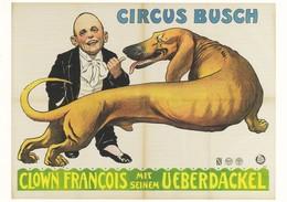 Dackel Teckel Dachshund Chien Circus Busch Old Dog Postcard - Dogs