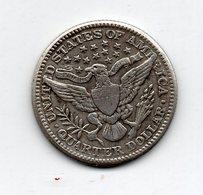 USA : 25 Cts 1895 - 1892-1916: Barber