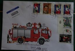Fire/Fireman/Vigili Del Fuoco/Bomberos/Feuerwehr - Busta Maxi - 6. 1946-.. Repubblica