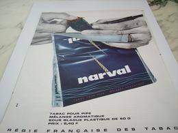 ANCIENNE PUBLICITE MELANGE  TABAC NARVAL 1964 - Tabac (objets Liés)