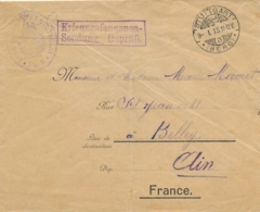 PRISONNIER à STUTTGART Allemagne - Lettre CENSURÉE Pour BELLEY AIN - Kriegsgefangenen Sendung - 1. Weltkrieg 1914-1918