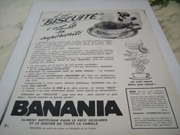 ANCIENNE PUBLICITE IL EST BISCUITE  BANANIA  1964 - Affiches