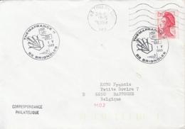 81239- BRIGNOLES- MUSHROOMS, PLANTS, SPECIAL POSTMARKS ON COVER, MARIANNE STAMP, 1989, FRANCE - Paddestoelen