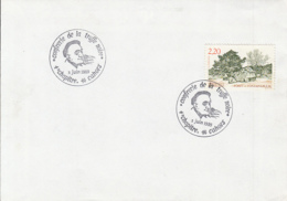 81240- TRUFFLES- MUSHROOMS, PLANTS, SPECIAL POSTMARKS ON COVER, FONTAINEBLEAU FOREST STAMP, 1989, FRANCE - Paddestoelen