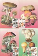 81246- MUSHROOMS, PLANTS, MAXIMUM CARD, 8X, 1999, ROMANIA - Paddestoelen