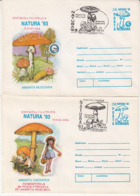 81251- MUSHROOMS, PLANTS, COVER STATIONERY, 2X, 1993, ROMANIA - Paddestoelen